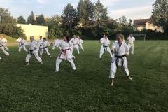 Training mit Akita Sensei Sportplatz Burgberg 2