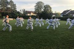 Training mit Akita Sensei Sportplatz Burgberg 3