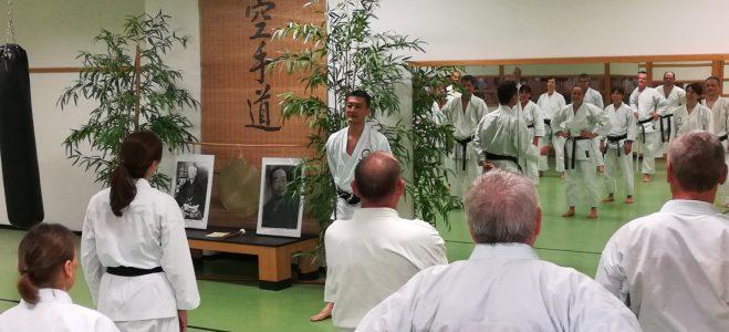 Lehrgang mit Sensei Akita, 6. Dan